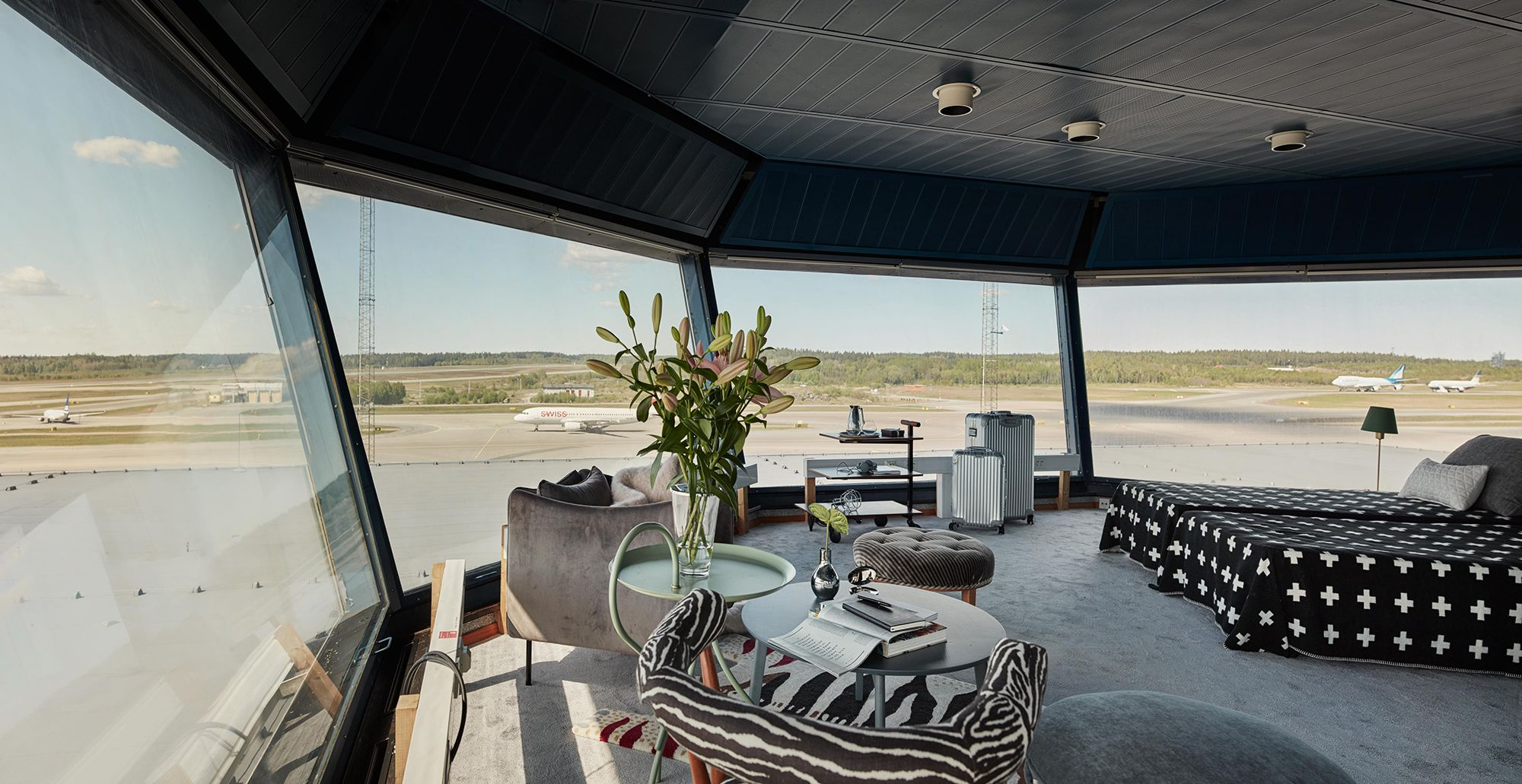 amazon kitchen island charlotte cabinets arlanda airport in stockholm transformed air-control tower ...