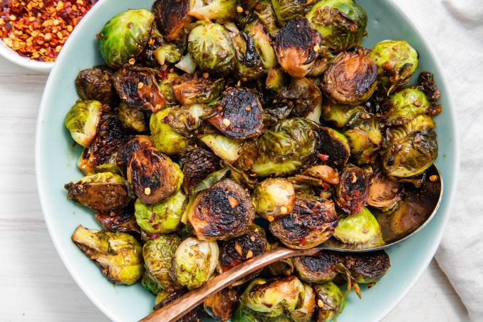 Best Honey Balsamic Glazed Brussels Sprouts Recipe - How