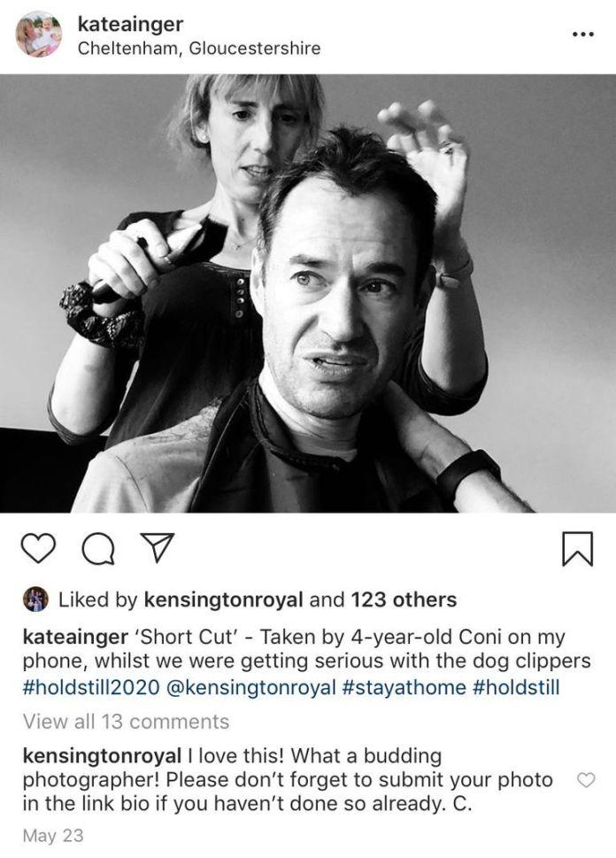 kate middleton instagram comments