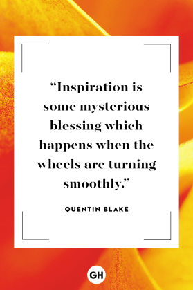 "Of Inspiration for Of Ash & Shadow - Quote Image: ""Inspiration is some mysterious blessing which happens when the wheels are turning smoothly."" - Quentin Blake"