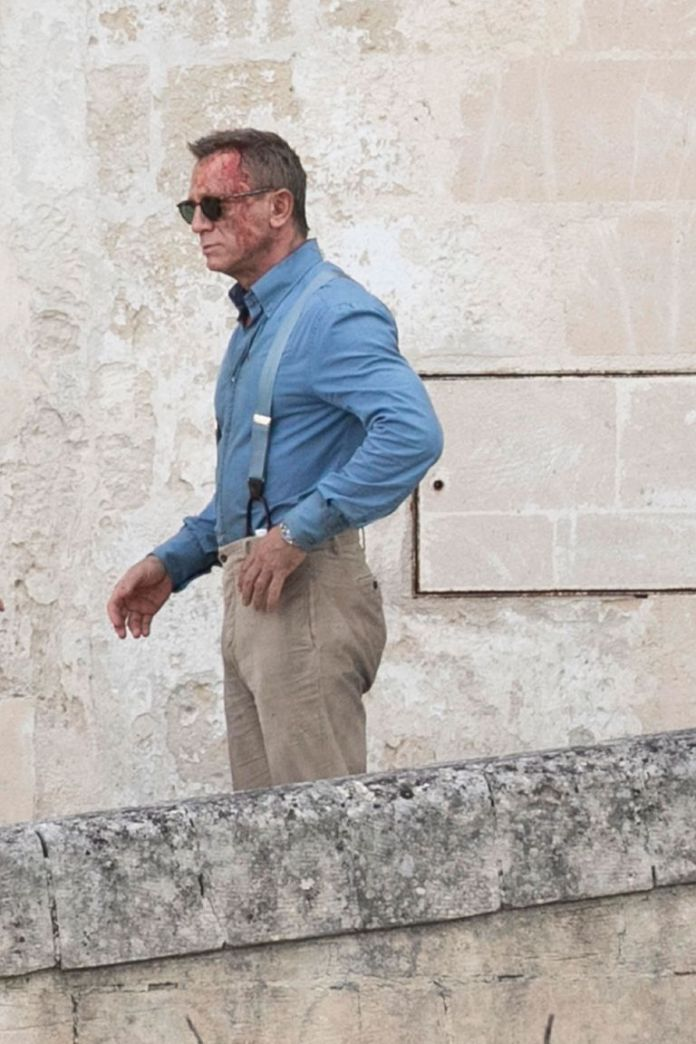 No time to die Daniel Craig lleno de sangre