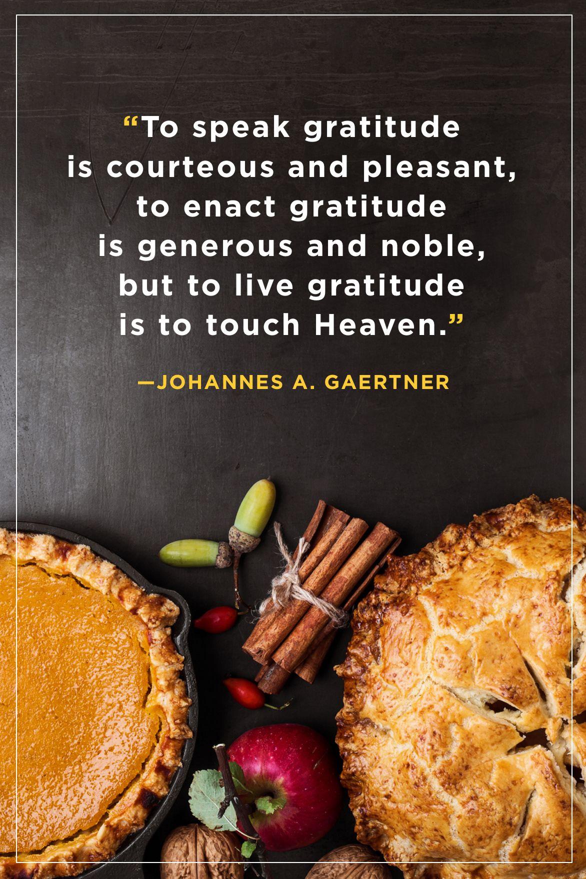 Johannes Gaertner Thanksgiving Quotes