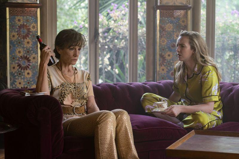 jodie comer as villanelle, harriet walter as dasha   killing eve  season 3, episode 2   photo credit des williebbca