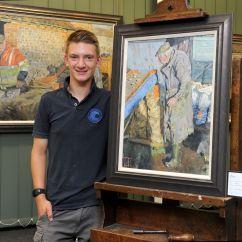 Kitchen Rugs Amazon Fork 'mini Monet' Painter Kieron Williamson To Auction Chelsea ...