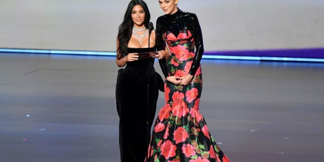 Kim and Kendall At the Emmys