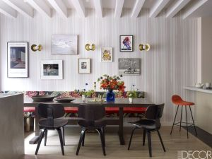 kitchen interior dining modern wall designs walls secrets apartment patterned elledecor designer decorate waldron william creative york