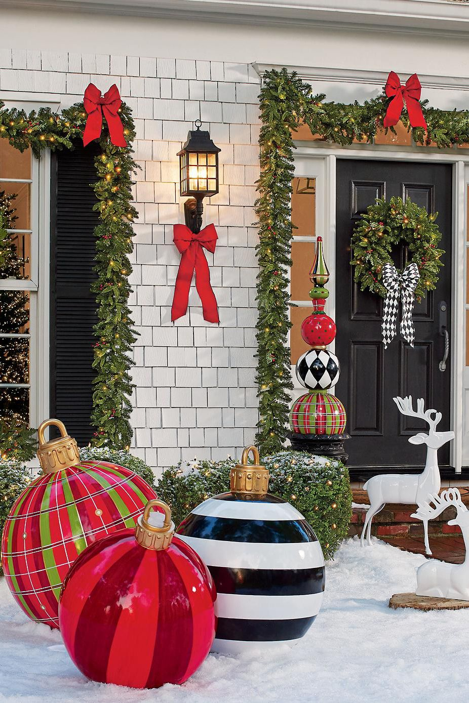 Large Outdoor Christmas Ornaments  Giant Holiday Ornament