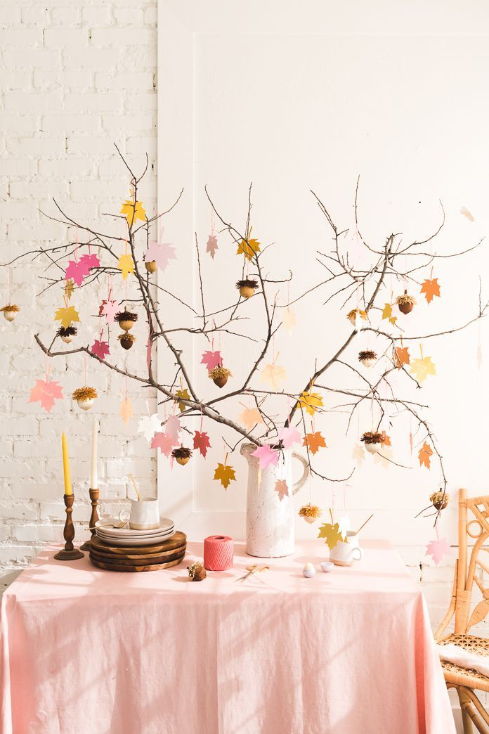 tree fall leaves thanksgiving decorations