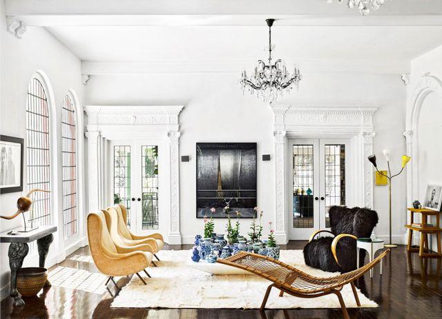 sala de estar formal ecléctica