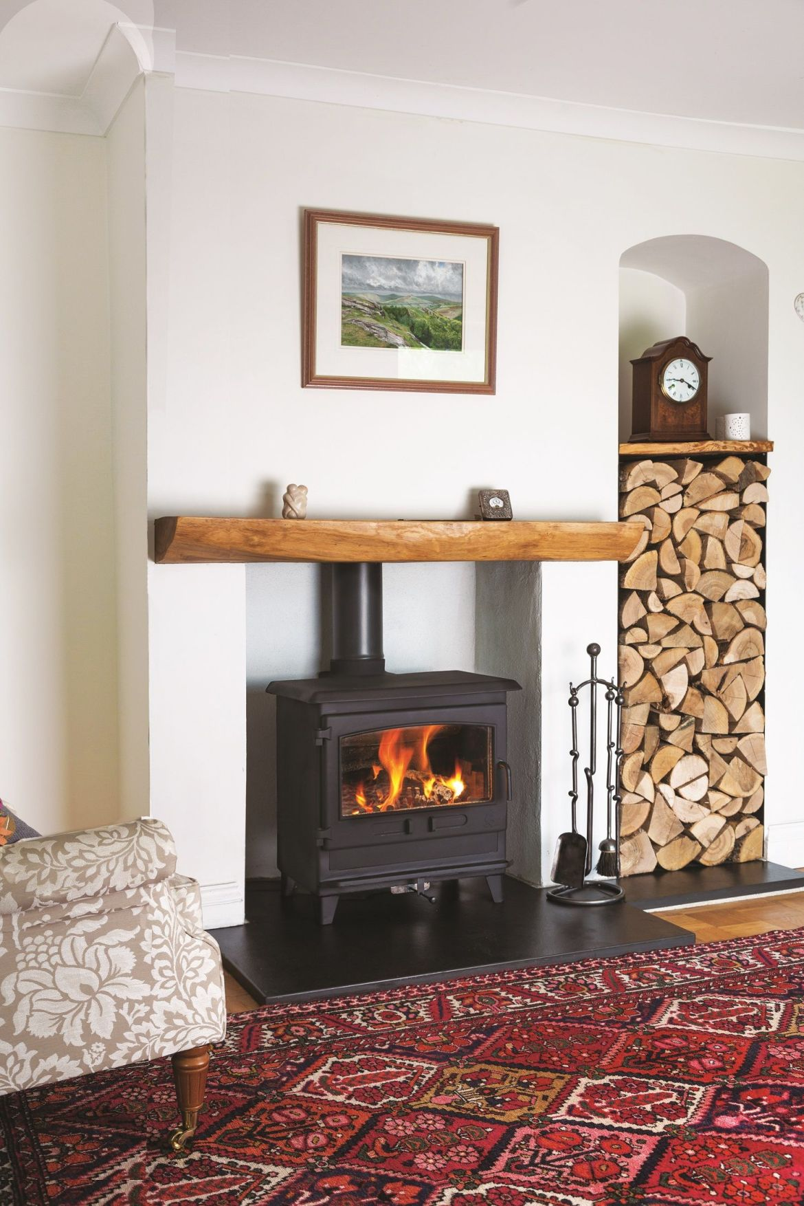 croft small slimline wood burning and multifuel stove