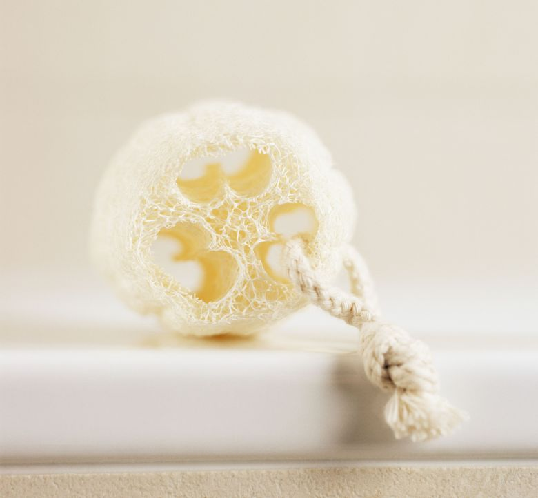 Loofah on a rope