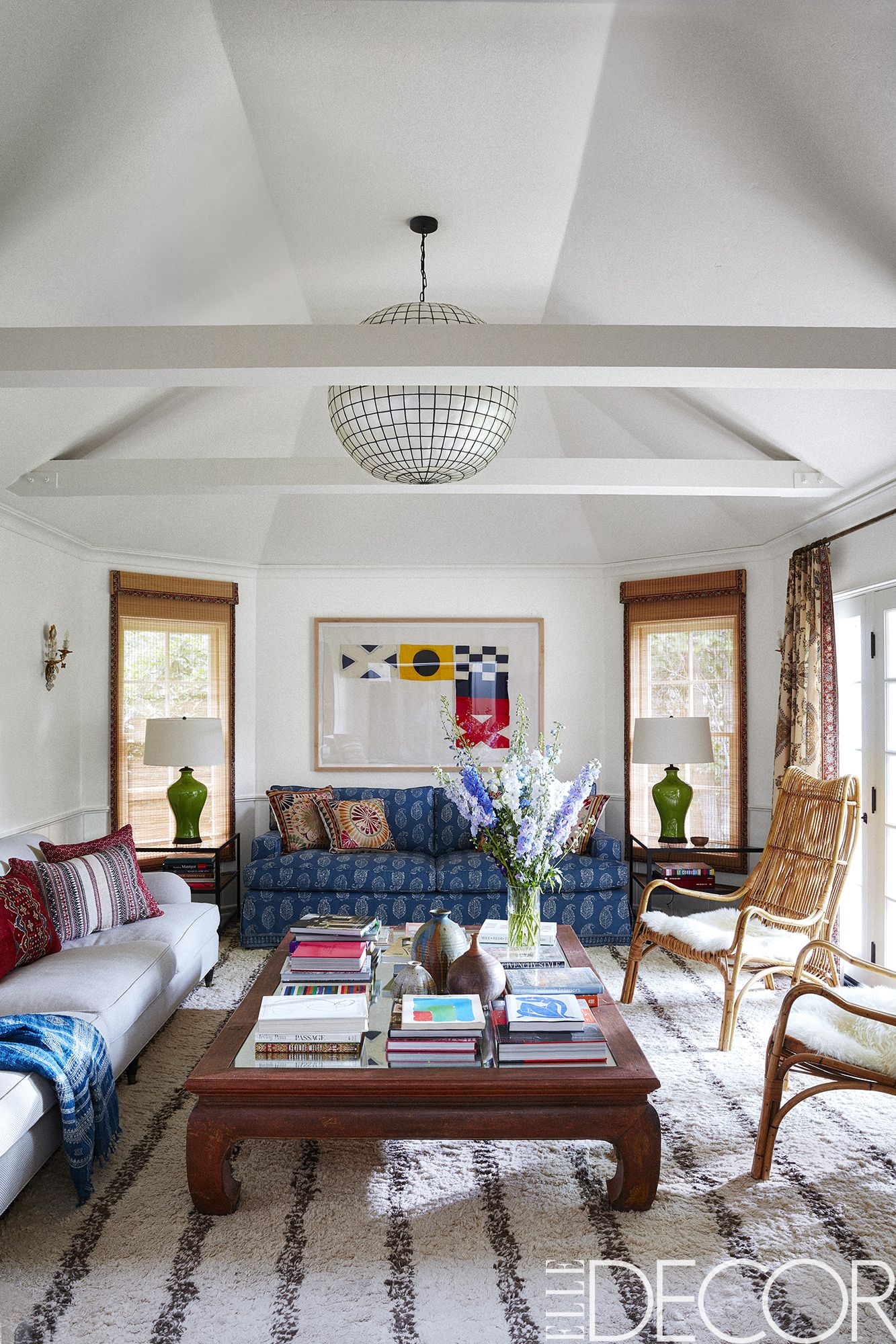 70s sofa wooden without backrest minnie driver's hollywood hills house tour - bohemian decor