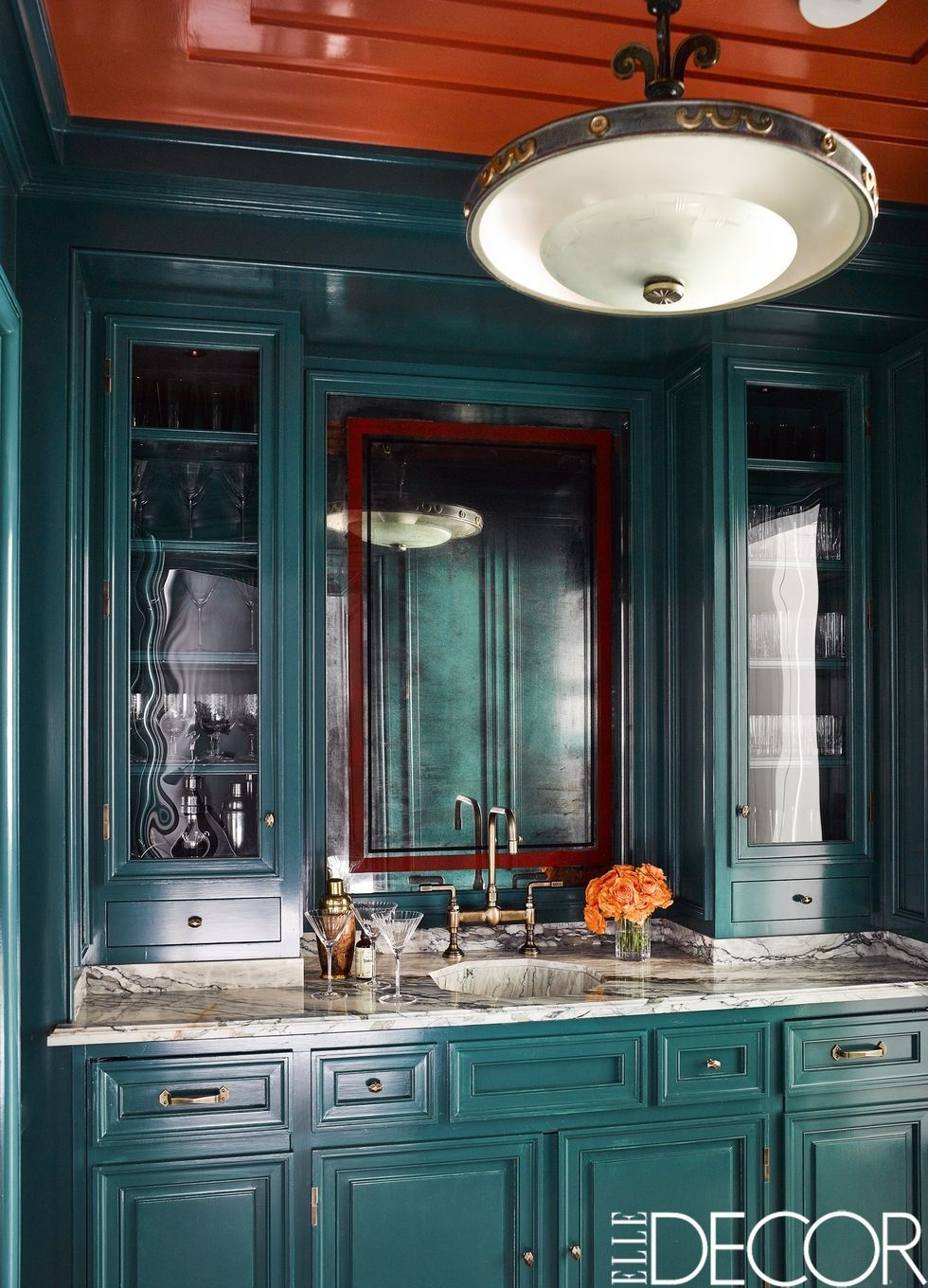 green kitchen cabinets cheap tile 24 design ideas paint colors for kitchens modern douglas friedman mallard