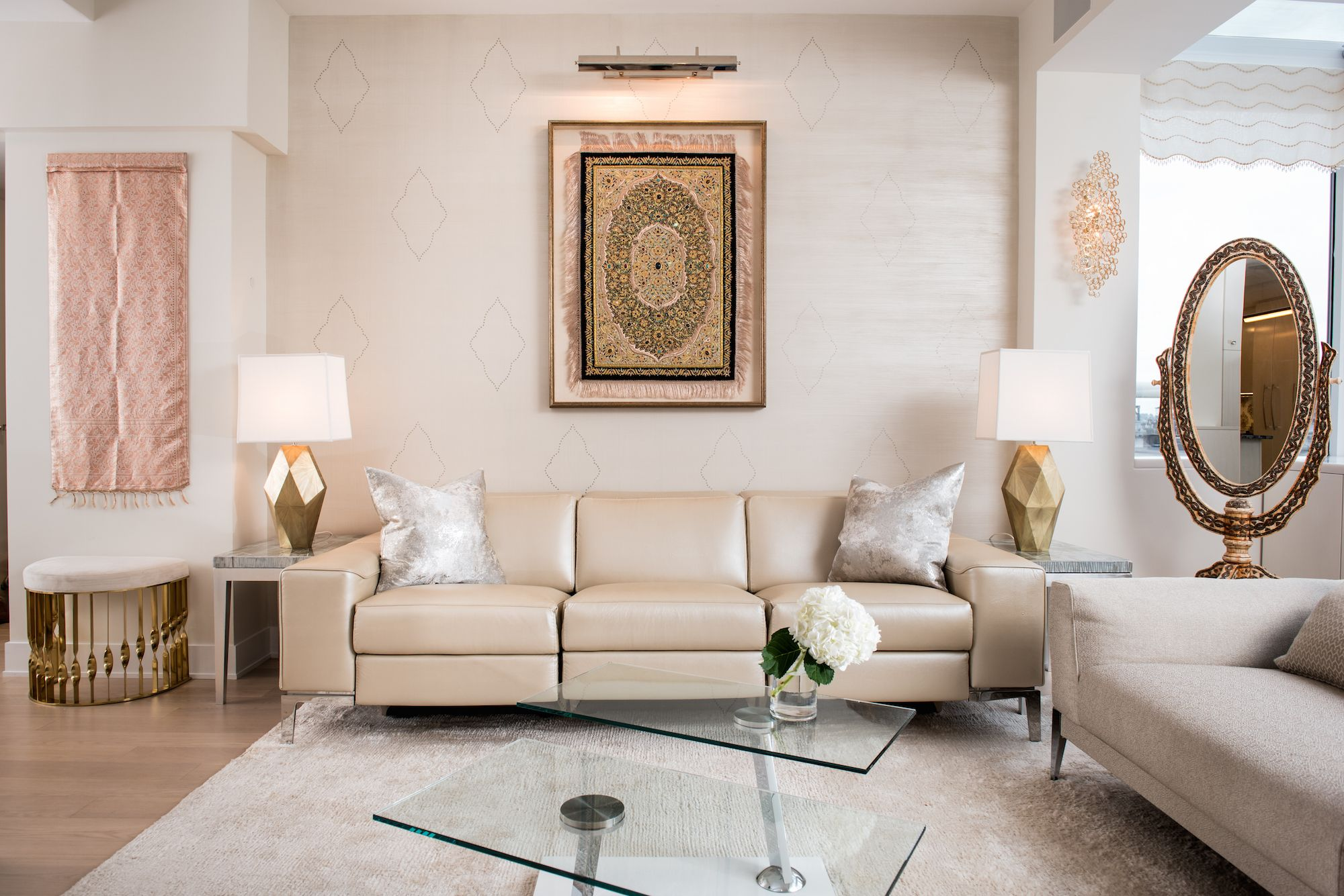 best granite colors for living room india ideas with brown leather suite neutral in a modern home monochromatic
