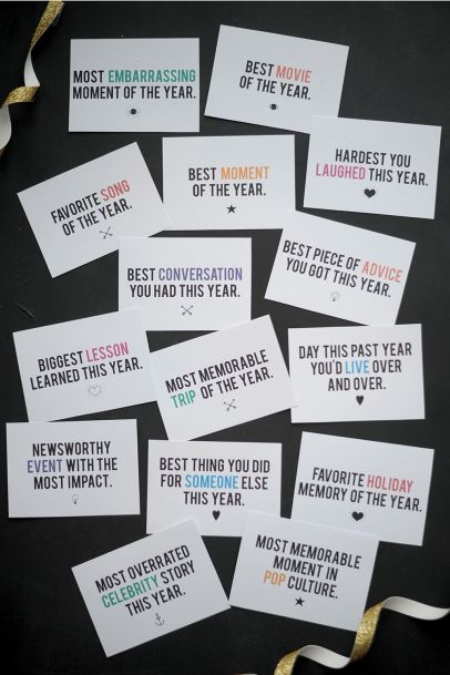 New Years Eve Game Cards