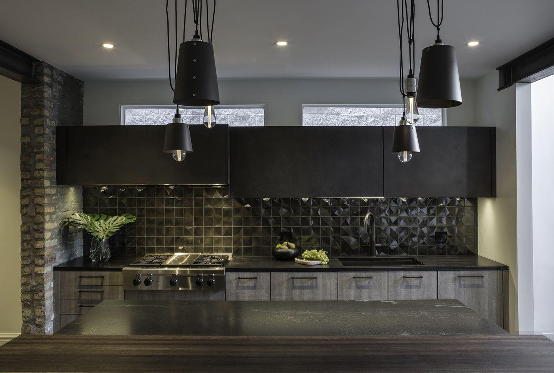 dark kitchen backsplashes