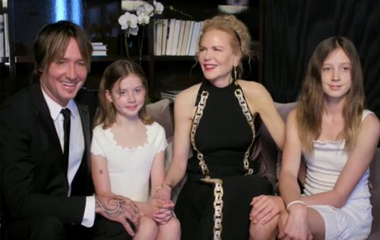 Golden Globes' 2021 Nominee Nicole Kidman Makes Rare Appearance With Kids  and Keith Urban