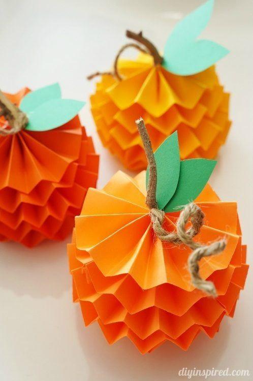 paper pumpkins diy inspired