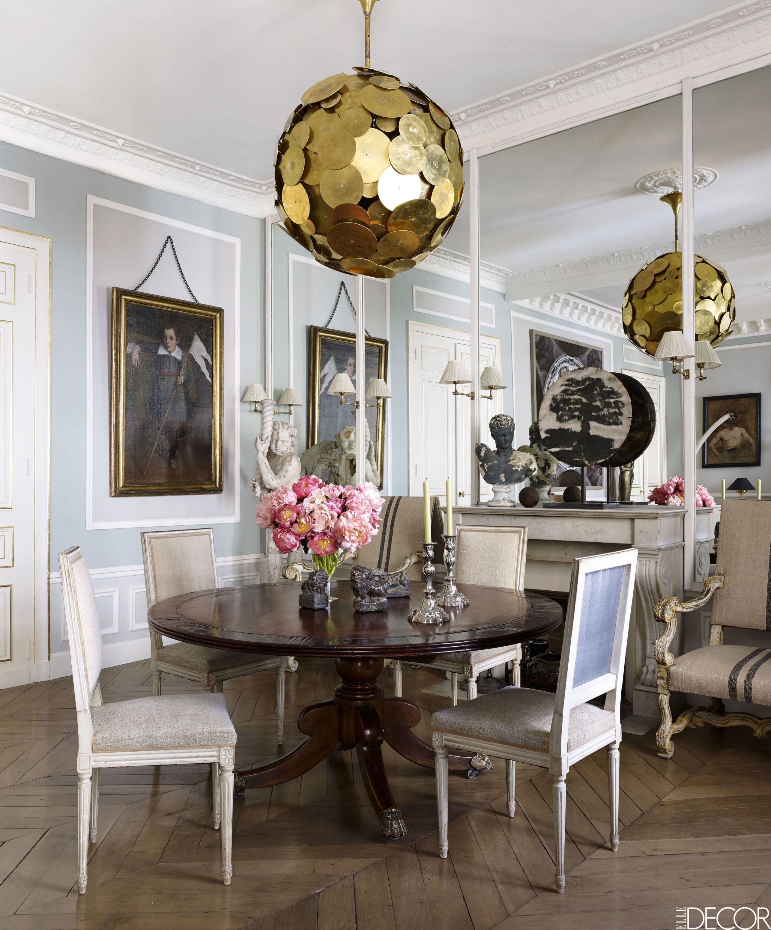 living room interior design ideas with dining table furniture leather 20 of the most stylish rooms in paris french style homes