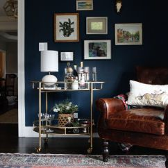 Decorating A Living Room With Navy Blue Furniture Elegant Tables And Gold Decor House Color Schemes Image