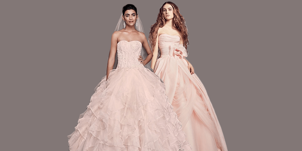 15 Pretty Pink Wedding Dresses 2019