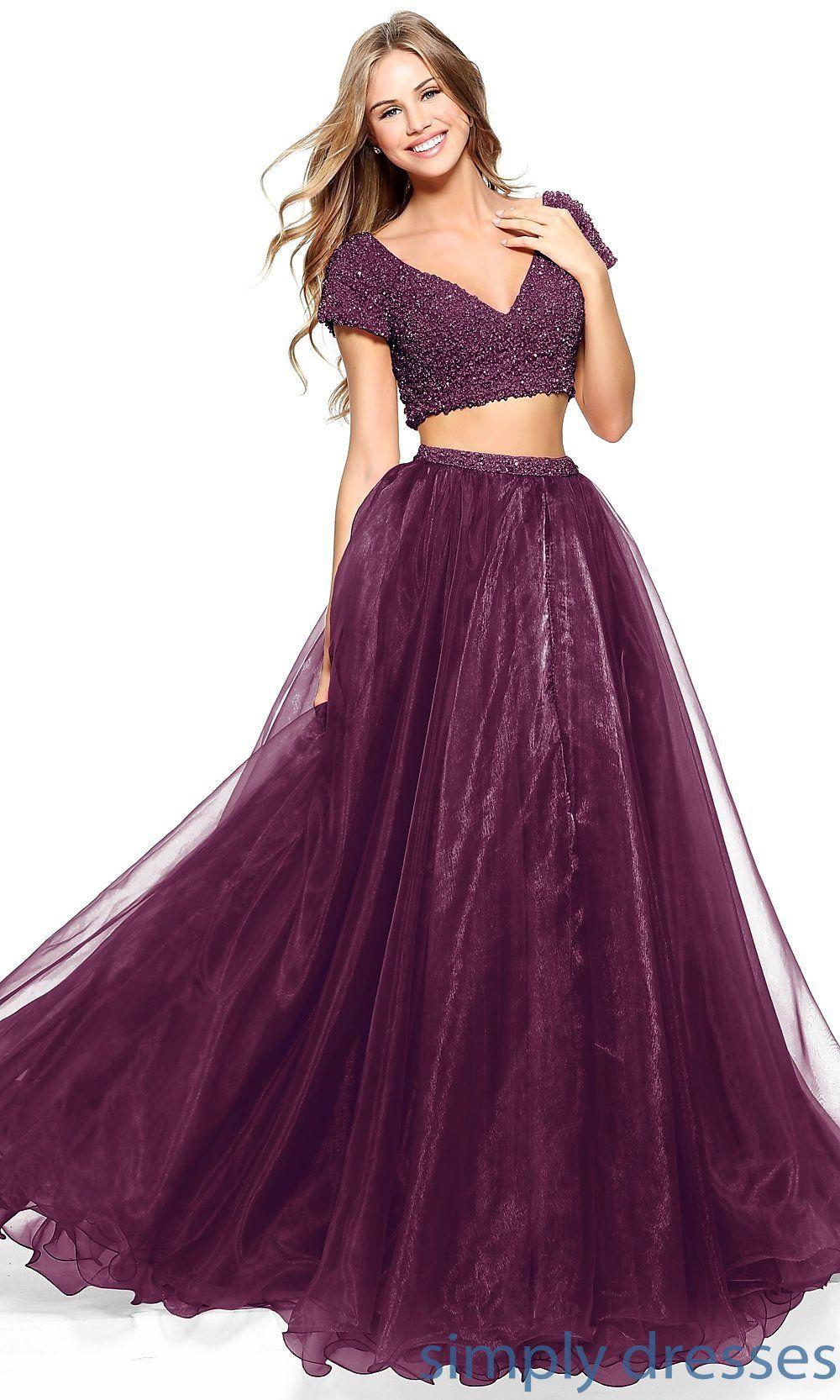 pretty purple prom dresses of