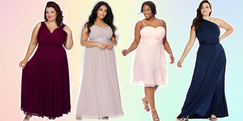 size bridesmaid dresses