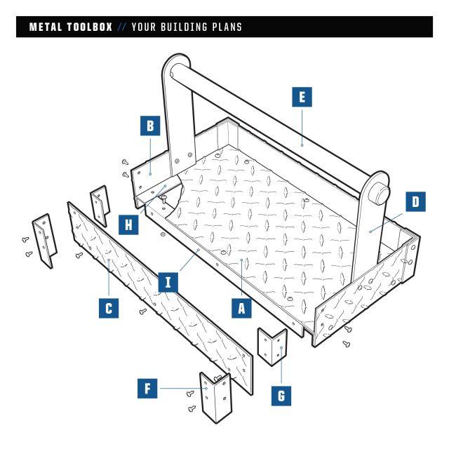 metal toolbox plan