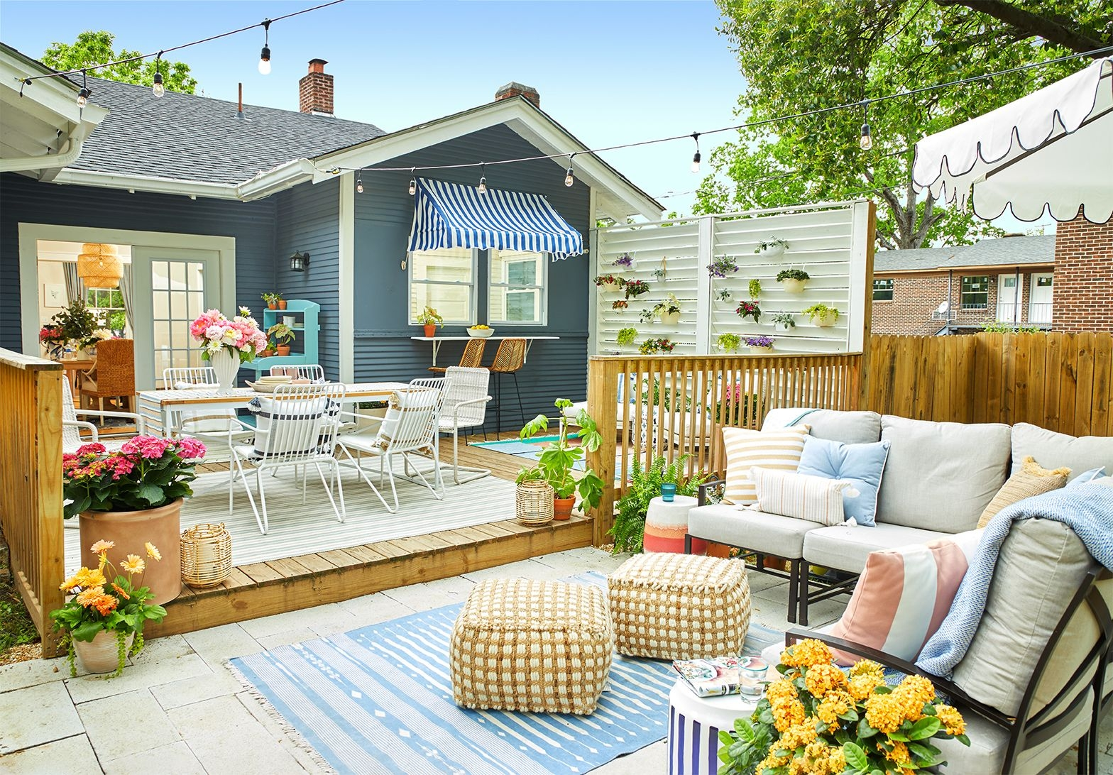 41 Best Patio And Porch Design Ideas Decorating Your Outdoor Space   Outside Stair Design For Small House   2 Story   Cement Stair   House Chennai   Residential   Stair Room