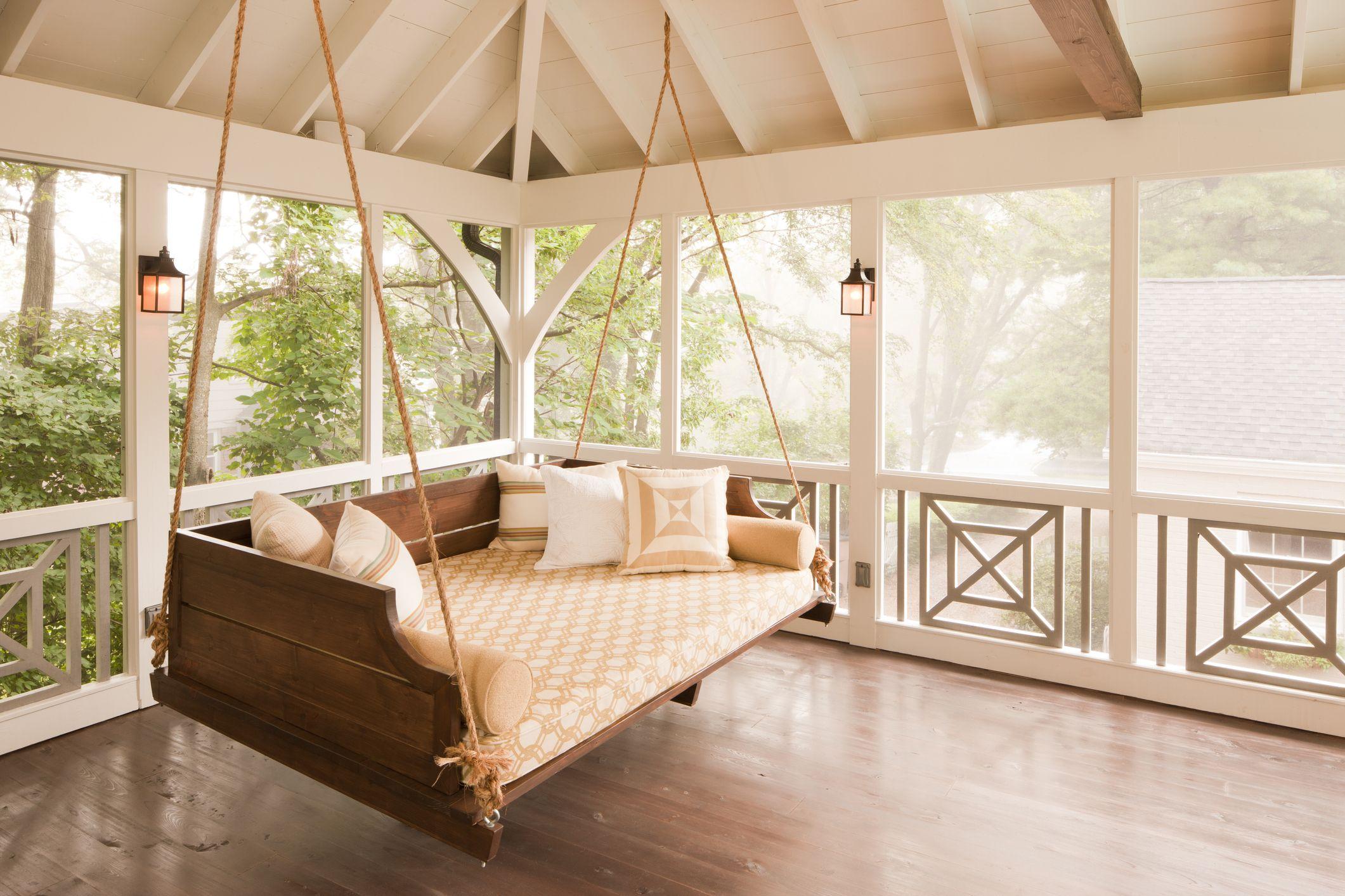 16 porch swing plans diy porch swing