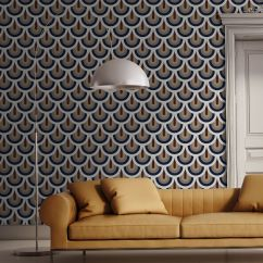 Funky Living Room Wallpaper Decorate With Black Leather Couch 30 Statement Wallpapers Patterned Designs