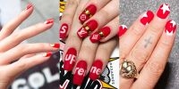 19 Easy Red Nail Designs - Cute Nail Art Ideas for a Red ...