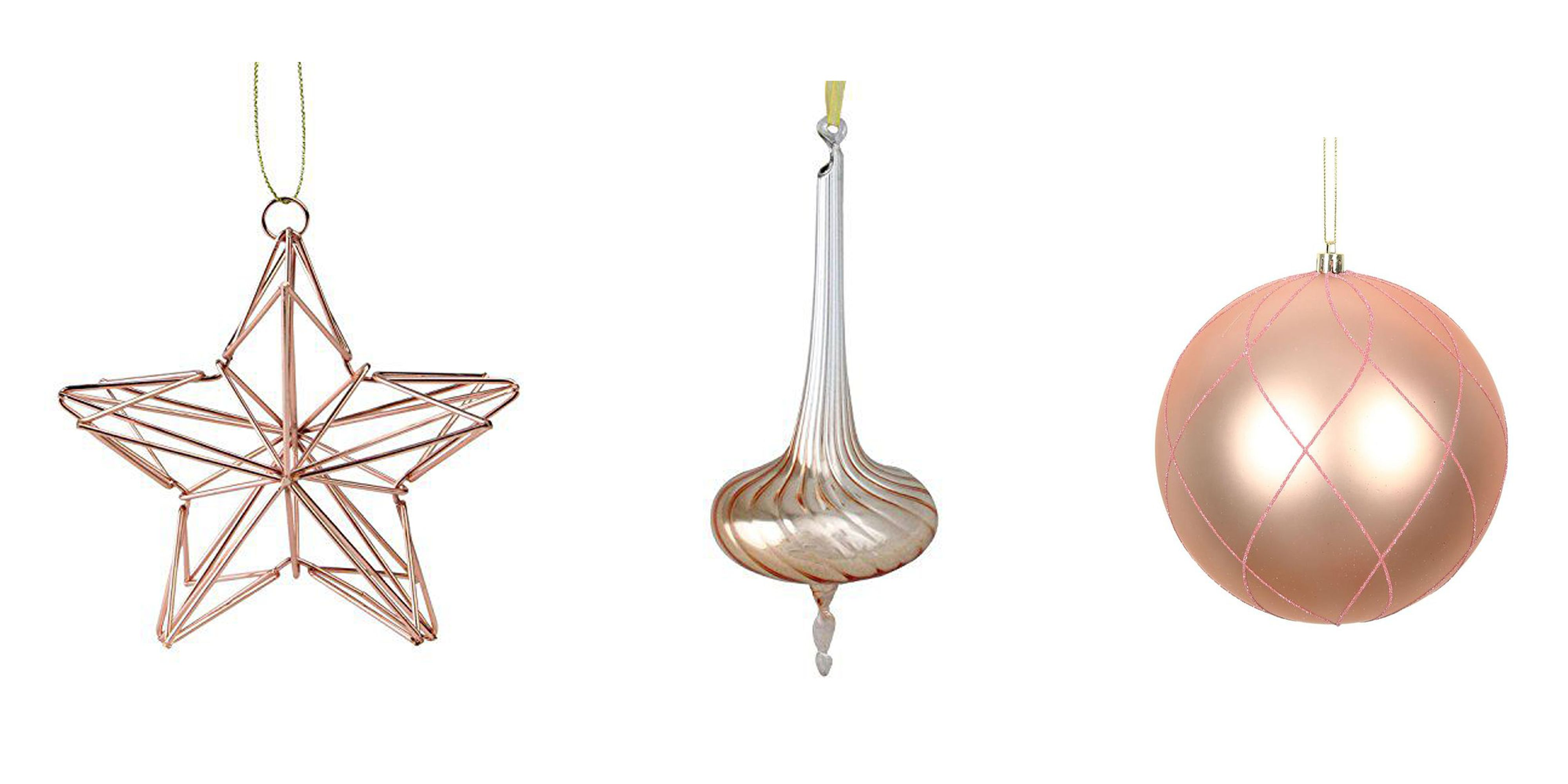 13 Rose Gold Christmas Ornaments Best Rose Gold Decor For Christmas Trees