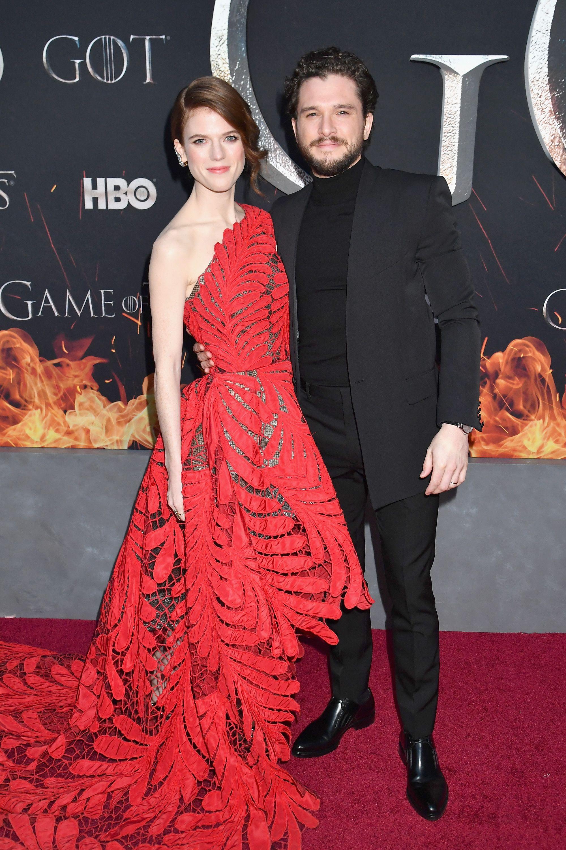 Rose Leslie Game Of Thrones : leslie, thrones, Harington, Leslie's, Thrones, Premiere