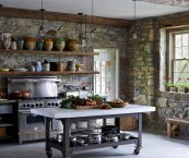rustic looking kitchens
