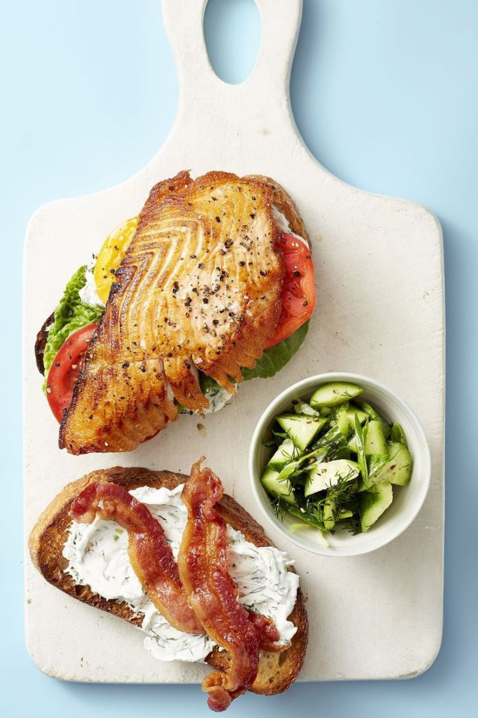 Salmon BLT - Healthy Lunch Ideas