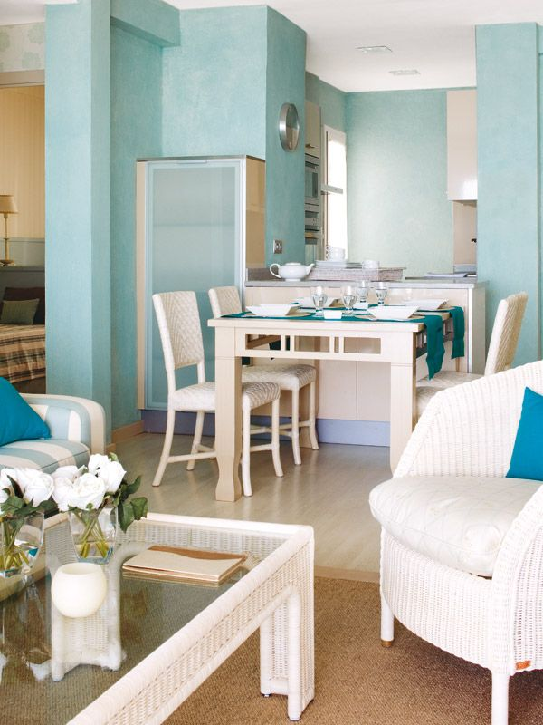 Ambientes de la casa  Reforma en un piso de playa de 50 metros cuadrados
