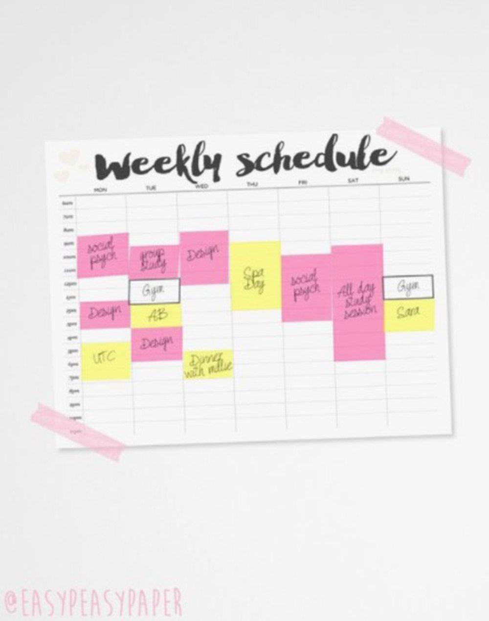 pretty timetable maker