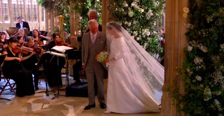 The Touching Moment Prince Charles Walked Meghan Markle