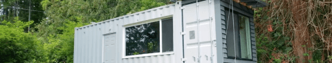 Watch This Guy Turn An Old Shipping Container Into A Tiny