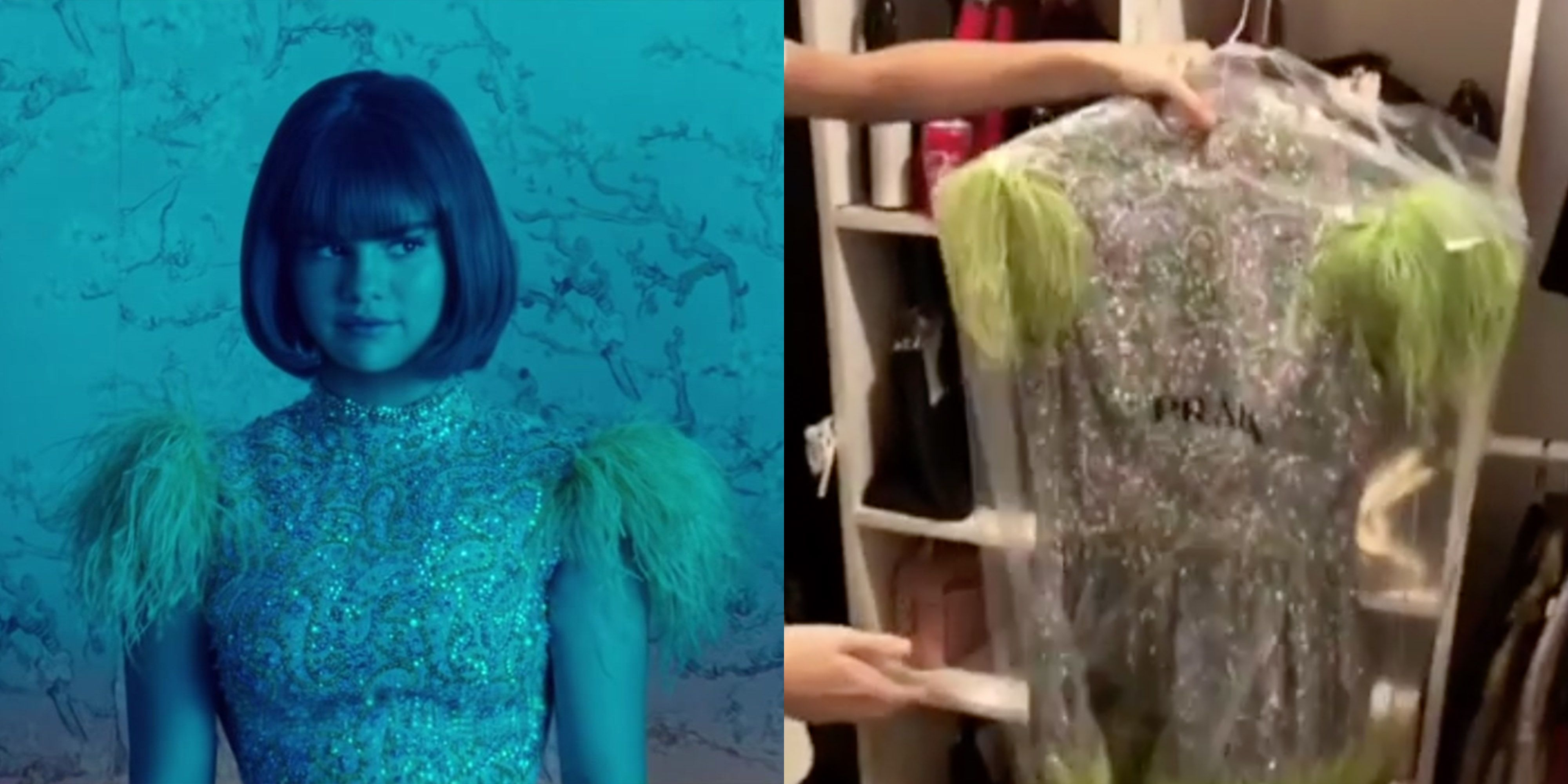 Selena Gomez Giving Away Back To You Music Video Dress