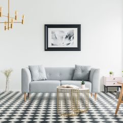 Living Room Online Large Framed Pictures For A Guide To Selling Furniture How Sell Poster Above Grey Sofa In Bright Patterned Interior With Armchair And Gold Lamp