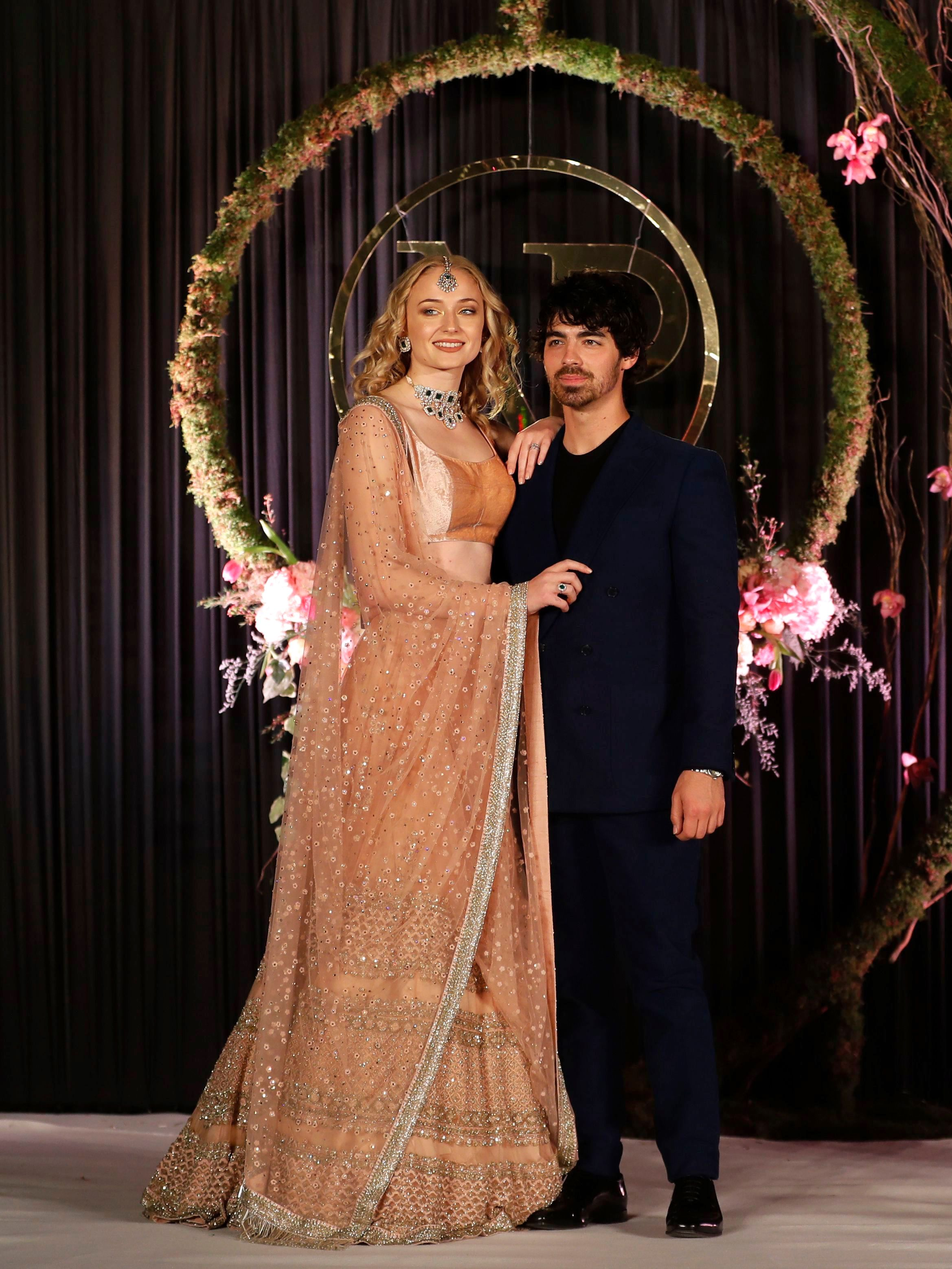 See Sophie Turners Reception Dress for Nick Jonas and