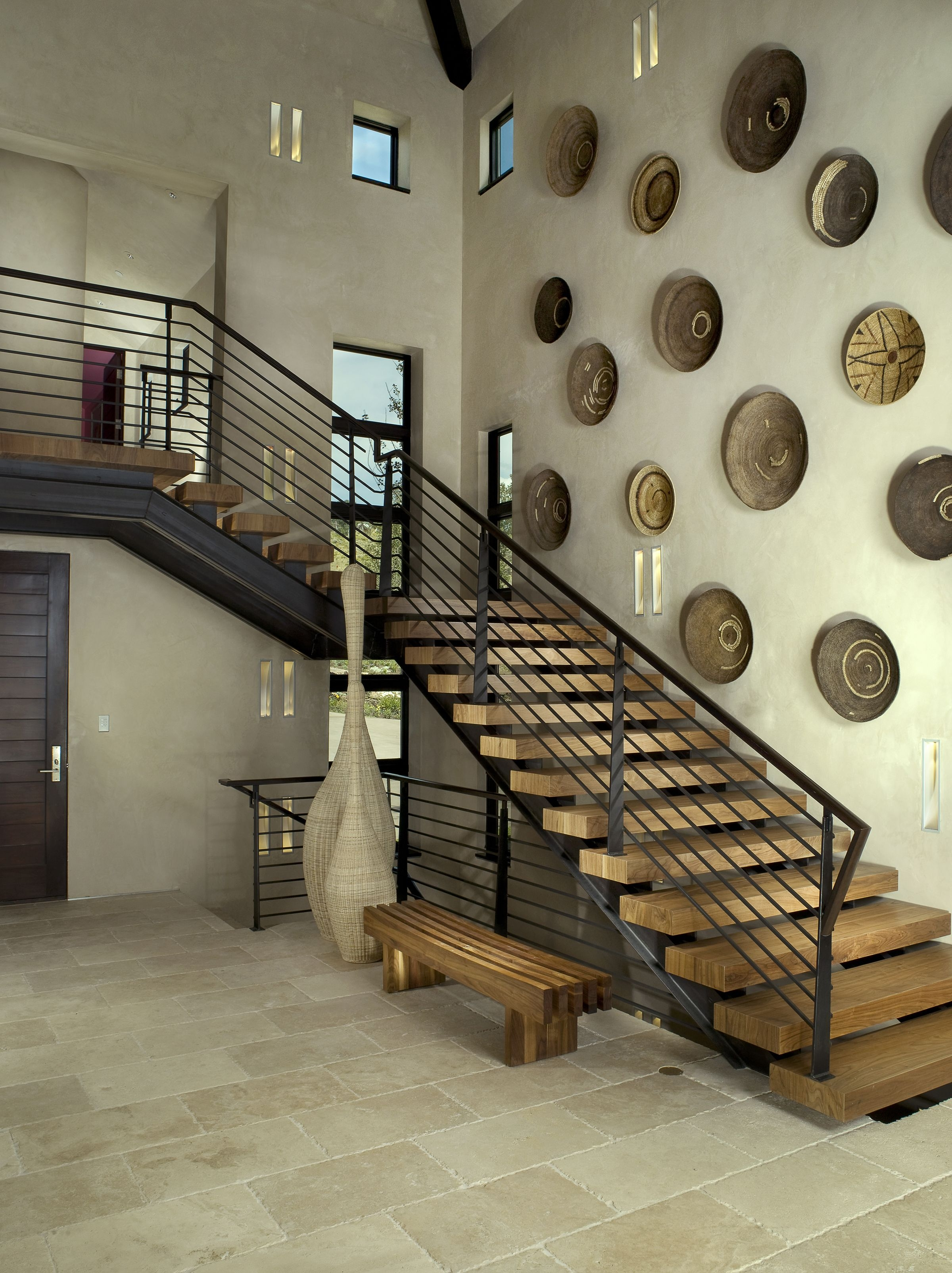 27 Stylish Staircase Decorating Ideas How To Decorate Stairways | Interior Staircase Design In Main Hall For Duplex House | Residential Stair | Middle Class Village Indian House | View | 16X16 Hall | Beautiful
