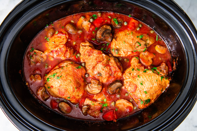 Best Slow-Cooker Chicken Cacciatore Recipe - How to Make