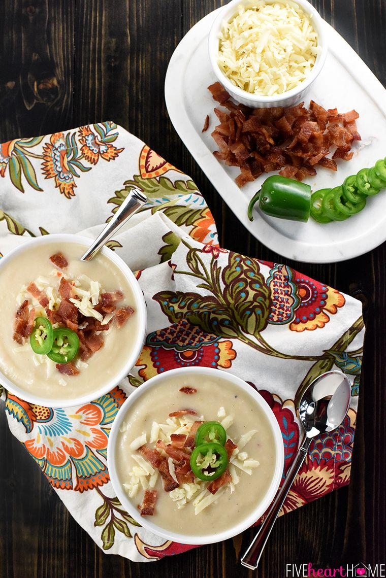 slow cooker soups cauliflower