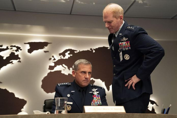 Steve Carell and Noah Emmerich in Space Force