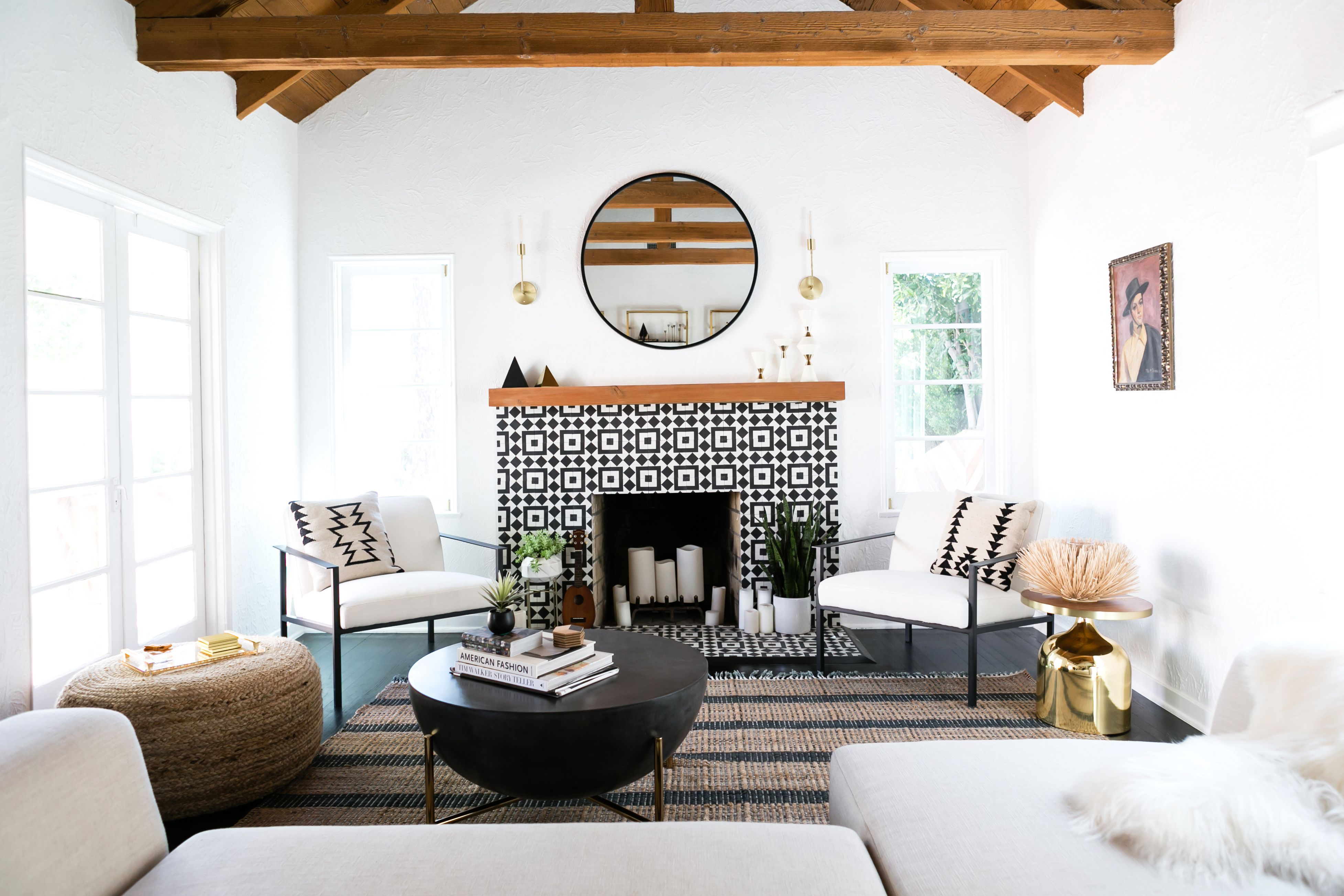 spanish style living room furniture serta a home is reimagined makeover before after in true l fashion
