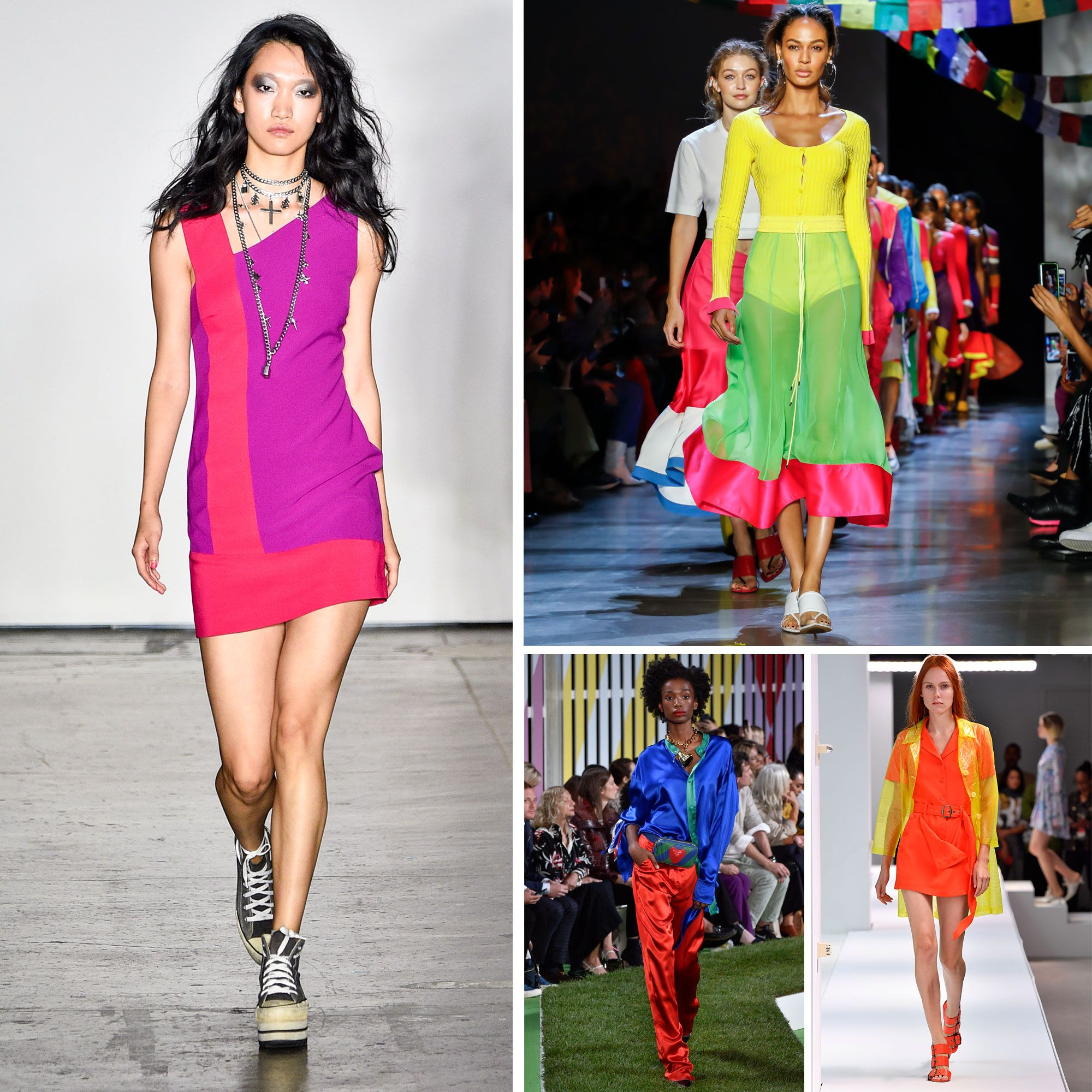 Spring/summer fashion trends 2019 - colour blocking
