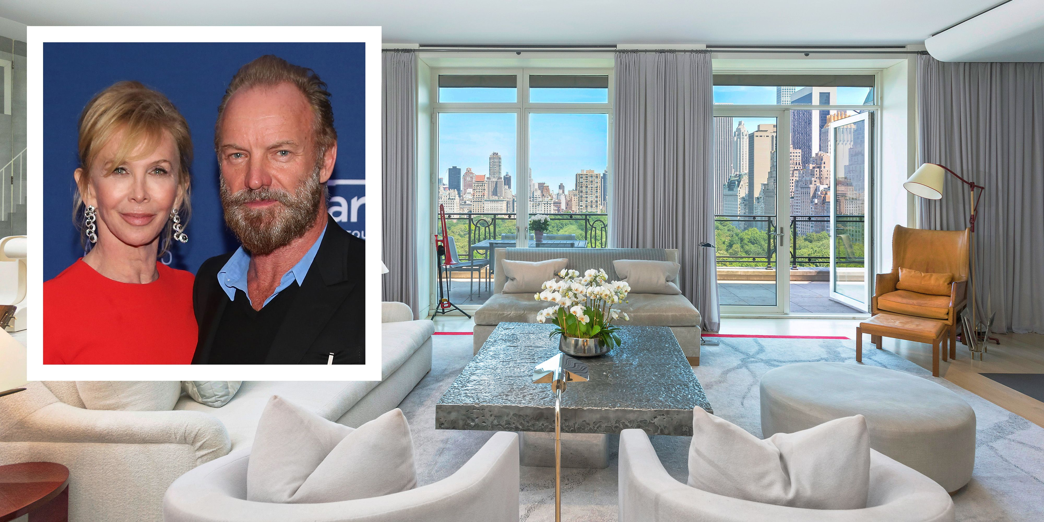 Sting And Trudie Styler New York City Apartment  Sting Trudie Styler List 15 Central Park West